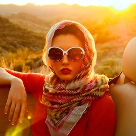 Have a ride in cabriolet wearing a vintage headscarf and a big sunglasses - Bucket List Ideas