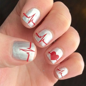 Heart Beat Nail Design - Bucket List Ideas