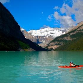 Kayak in Lake Louise, Alberta - Bucket List Ideas