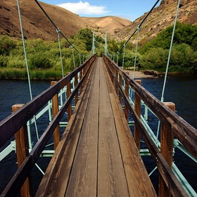 Walk across the Umtanum Suspension Bridge over the Yakima River - Bucket List Ideas