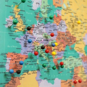 "Document my travels with a ""Pin Map"" - Bucket List Ideas"