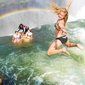 Swim In The Devil's Pool at Victoria Falls, Zimbabwe - Bucket List Ideas