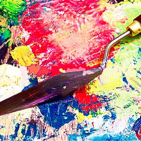 Make A Painting Using A Palette Knife (First Time) - Bucket List Ideas