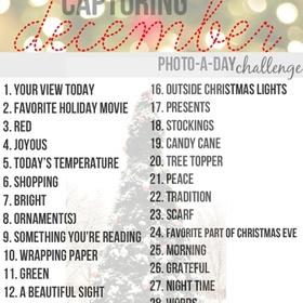 December Photo Challenge - Bucket List Ideas