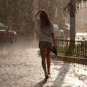 Walk barefoot in the rain - Bucket List Ideas