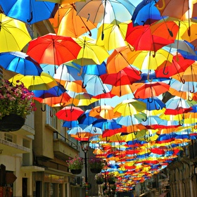 See the roof of umbrellas - Bucket List Ideas