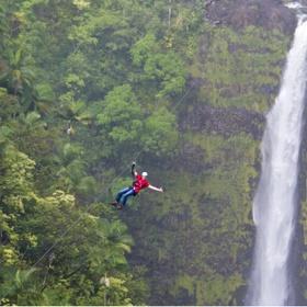 Zipline Over a Waterfall - Bucket List Ideas