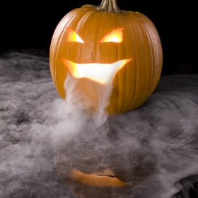Autumn - Make An Amazing Halloween Pumpkin Oozing Dry Ice Smoke - Bucket List Ideas