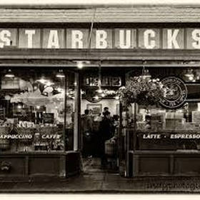 Get a cup of coffee at the 1st Starbucks - Bucket List Ideas