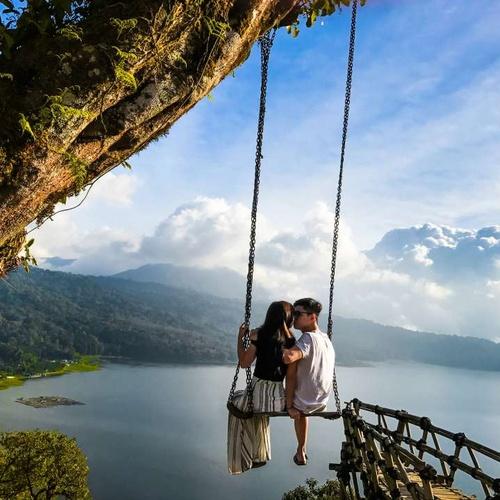 Sit on Wanagiri Hidden Hills Swing~Bali - Bucket List Ideas
