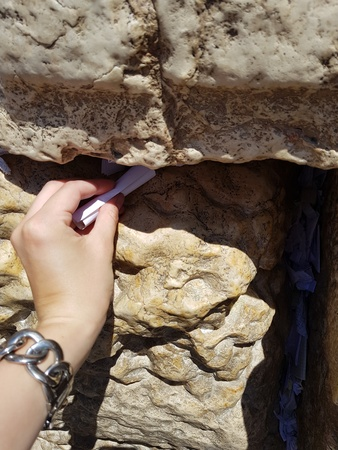 Leave a prayer note at the Western Wall - Bucket List Ideas