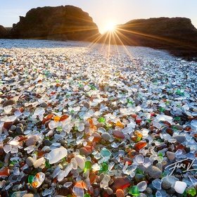 Go to the Glass Beach in Fort Bragg, California - Bucket List Ideas