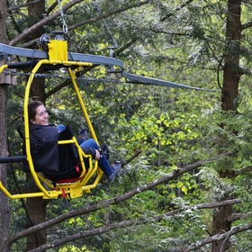 Canopy Cycle through the trees on the Velo Volant in Canada - Bucket List Ideas