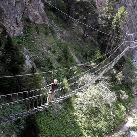 Cross the 'Tibetan bridge' and ferrata of the Bunker- Italy - Bucket List Ideas