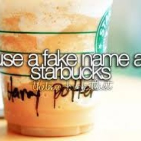 Use a fake name and accent at starbucks - Bucket List Ideas