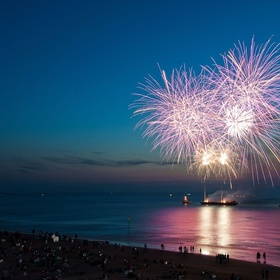 Watch fireworks on the beach - Bucket List Ideas