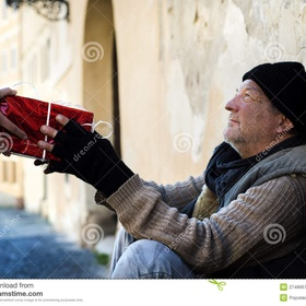 Buy a homeless person a Gift on Christmas - Bucket List Ideas