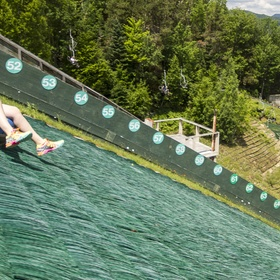 Tube down an Olympic ski jump slope - Bucket List Ideas