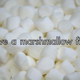 Have a marshmallow fight - Bucket List Ideas