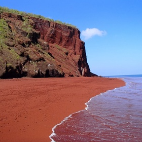Go to a Red Sand Beach - Bucket List Ideas