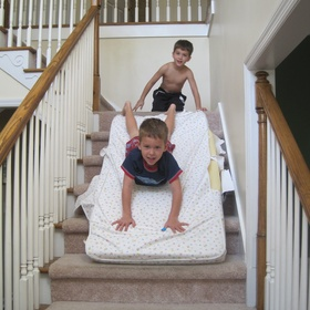 Ride a Mattress Down a Staircase - Bucket List Ideas