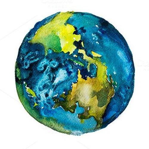 Create my own logo with watercolor | Akamu Earth - Bucket List Ideas