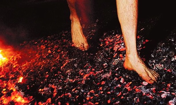 Walk on hot coals - Bucket List Ideas