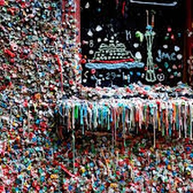 Leave gum at the gum wall in Seattle - Bucket List Ideas