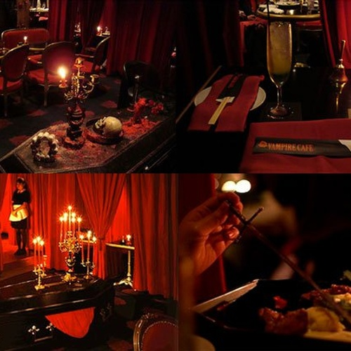🍴 Eat at Vampire Cafe Restaurant in Japan - Bucket List Ideas