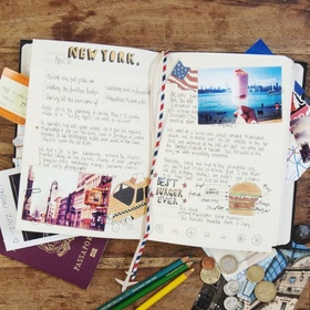 Start and fill a travel journal - Bucket List Ideas