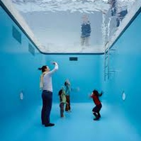Walk into the fake pool in Japan - Bucket List Ideas