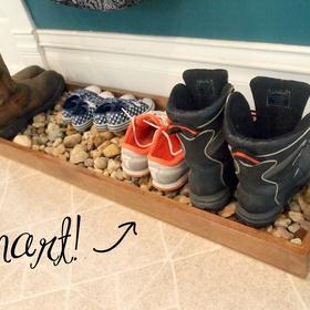 Make a Pebble Shoe Tray - Bucket List Ideas