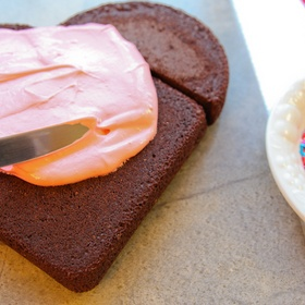 Make a heart shaped cake for Valentine's Day - Bucket List Ideas