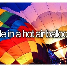 Ride in a Hot Air Balloon - Bucket List Ideas