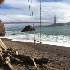 Swing on the swing at Kirby Cove Campground ~San Francisco - Bucket List Ideas