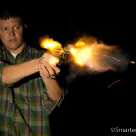 Take some awesome muzzle flash photos - Bucket List Ideas