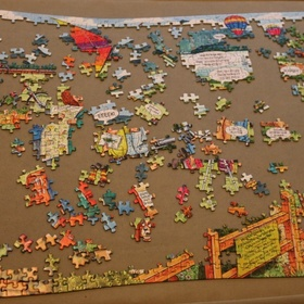 Complete a 1000 piece puzzle and frame it on my wall - Bucket List Ideas
