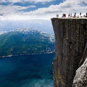 Sit on the edge of Preacher's Rock in Norway - Bucket List Ideas