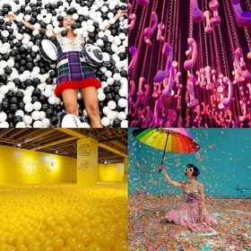 Experience an art pop-up exhibition such as 29 Rooms or The Color Factory - Bucket List Ideas
