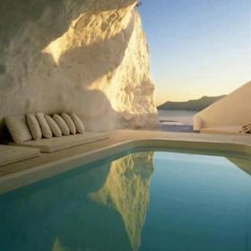 Natural Pool, Santorini, Greece - Bucket List Ideas