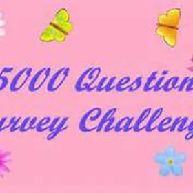 Complete the 5000 question survey - Bucket List Ideas