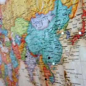 Buy a map of the world and pin/mark all the places i've been - Bucket List Ideas