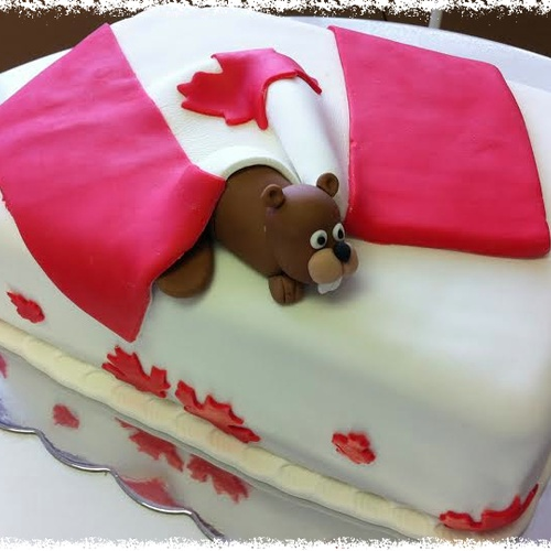 Make a Canadian flag cake - Bucket List Ideas