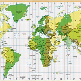 Buy a map of the world and pin all the places I've been! - Bucket List Ideas