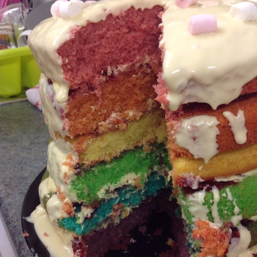Bake a Rainbow Cake - Bucket List Ideas