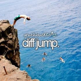 Go Cliff Jumping - Bucket List Ideas