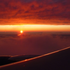 Watch the sunset from an airplane - Bucket List Ideas