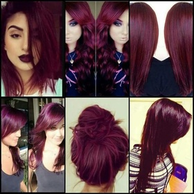 Dye my hair burgundy🍆 - Bucket List Ideas