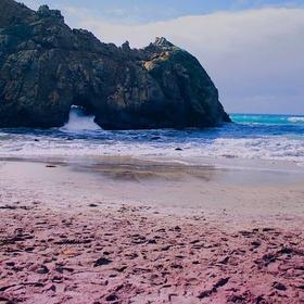 Go on a PURPLE SAND BEACH - Bucket List Ideas