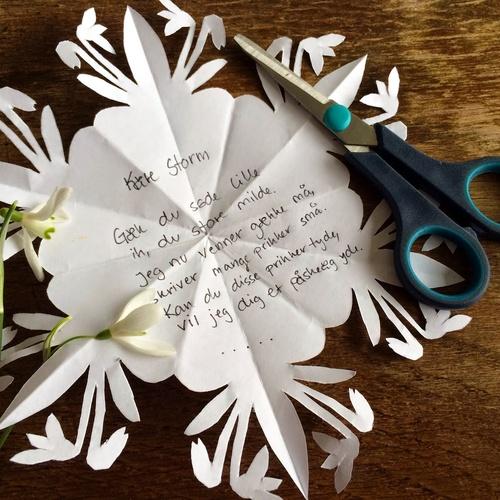 Secret snowdrop letter - Bucket List Ideas